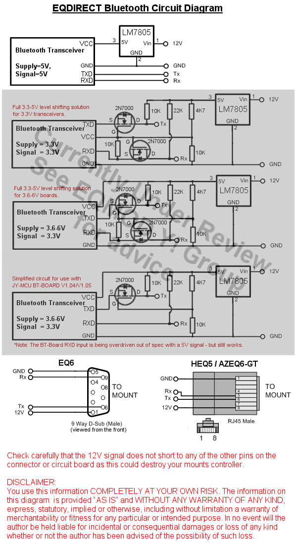 EQDIRECT-BT circuit diagram